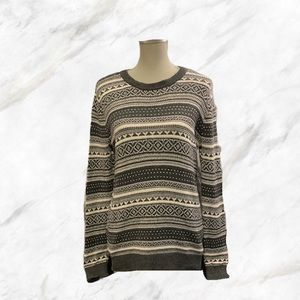 4/$30 🌷F21 | Grey & White Patterned Knit Sweater